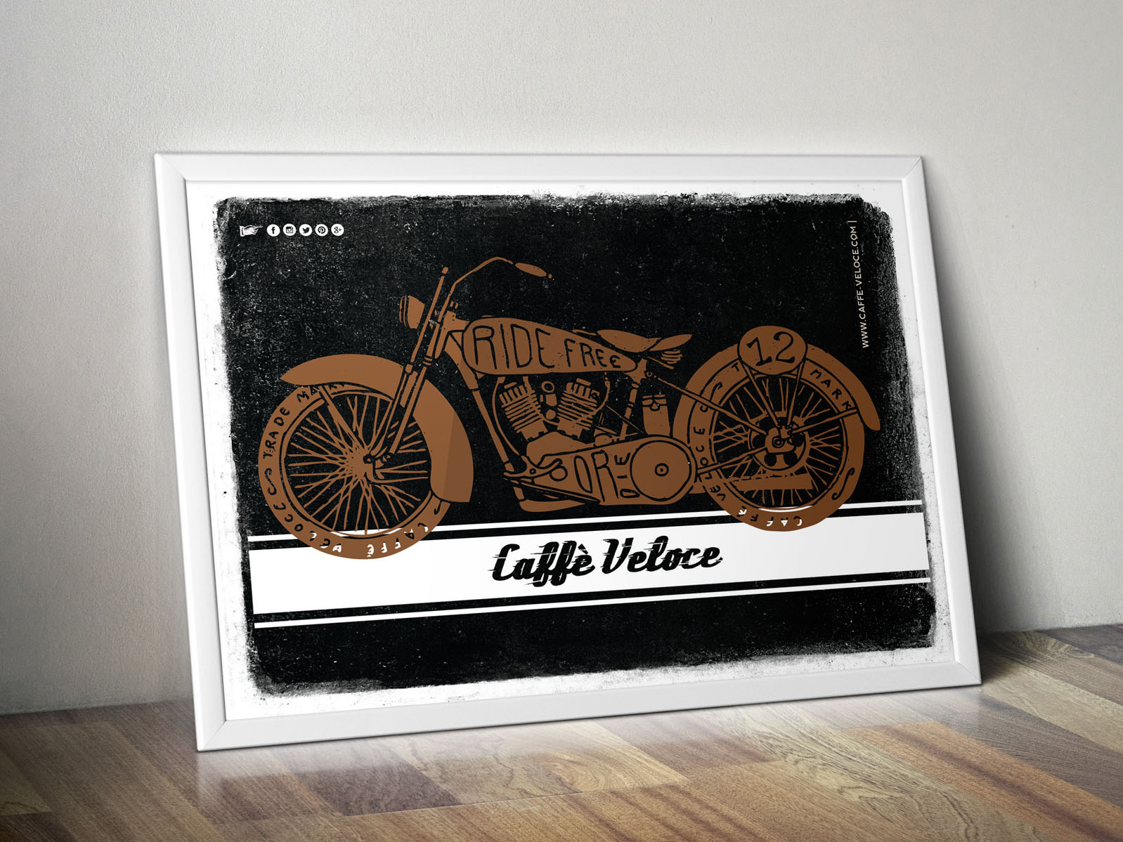 Poster Bike - Caffè Veloce poster